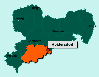 Der Lageplan von 09526 Heidersdorf zeigt die Position im Erzgebirgskreis - Der Ort liegt im Bundesland Sachsen