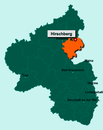 Die Karte von Hirschberg zeigt die Lage im Rhein-Lahn-Kreis - Der Ort 65558 Hirschberg liegt im Bundesland Rheinland-Pfalz