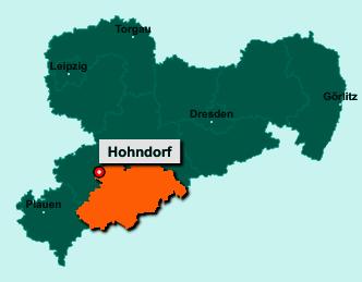 Die Karte von Hohndorf zeigt die Lage im Erzgebirgskreis - Der Ort 09394 Hohndorf liegt im Bundesland Sachsen