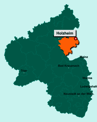 Die Karte von Holzheim zeigt die Lage im Rhein-Lahn-Kreis - Der Ort 65558 Holzheim liegt im Bundesland Rheinland-Pfalz