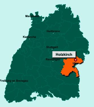 Die Karte von Holzkirch zeigt die Lage im Alb-Donau-Kreis - Der Ort 89183 Holzkirch liegt im Bundesland Baden-Württemberg