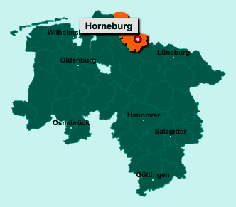 Die Karte von Horneburg zeigt die Lage im Landkreis Stade - Der Ort 21640 Horneburg liegt im Bundesland Niedersachsen