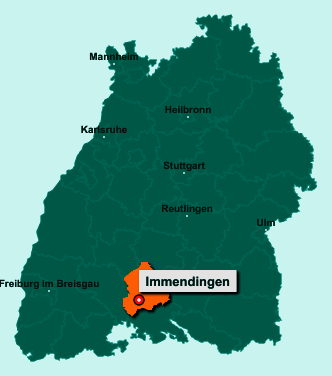 Die Karte von Immendingen zeigt die Lage im Landkreis Tuttlingen - Der Ort 78194 Immendingen liegt im Bundesland Baden-Württemberg