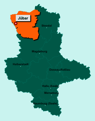 Die Karte von Jübar zeigt die Lage im Altmarkkreis Salzwedel - Der Ort 38489 Jübar liegt im Bundesland Sachsen-Anhalt