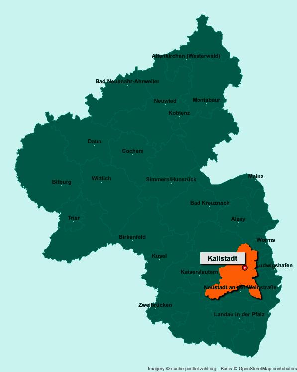 Bildergebnis für kallstadt postleitzahl karte