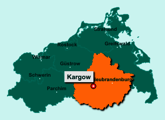 Die Karte von Kargow zeigt die Lage im Landkreis Mecklenburgische Seenplatte - Der Ort 17192 Kargow liegt im Bundesland Mecklenburg-Vorpommern