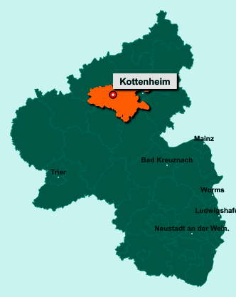 Die Karte von Kottenheim zeigt die Lage im Landkreis Mayen-Koblenz - Der Ort 56736 Kottenheim liegt im Bundesland Rheinland-Pfalz