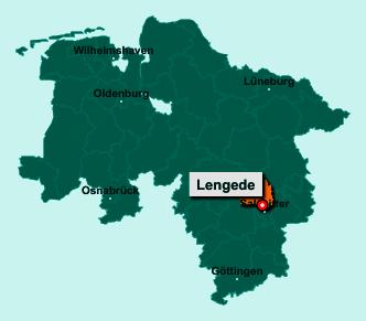 Die Karte von Lengede zeigt die Lage im Landkreis Peine - Der Ort 38268 Lengede liegt im Bundesland Niedersachsen