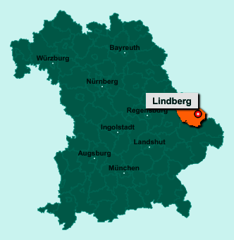 Die Karte von Lindberg zeigt die Lage im Landkreis Regen - Der Ort 94227 Lindberg liegt im Bundesland Bayern