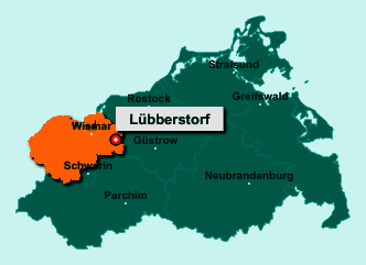 Der Lageplan von 23992 Lübberstorf zeigt die Position im Landkreis Nordwestmecklenburg - Der Ort liegt im Bundesland Mecklenburg-Vorpommern