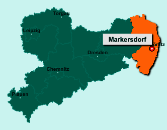 Die Karte von Markersdorf zeigt die Lage im Landkreis Görlitz - Der Ort 02829 Markersdorf liegt im Bundesland Sachsen