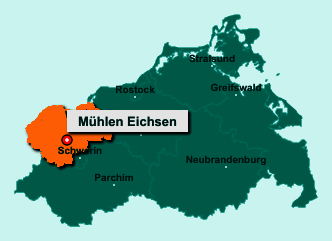 Die Karte von Mühlen Eichsen zeigt die Lage im Landkreis Nordwestmecklenburg - Der Ort 19205 Mühlen Eichsen liegt im Bundesland Mecklenburg-Vorpommern