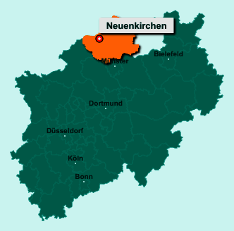 Die Karte von Neuenkirchen zeigt die Lage im Kreis Steinfurt - Der Ort 48485 Neuenkirchen liegt im Bundesland Nordrhein-Westfalen