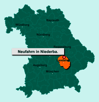 Die Karte von Neufahrn in Niederbayern zeigt die Lage im Landkreis Landshut - Der Ort 84088 Neufahrn in Niederbayern liegt im Bundesland Bayern