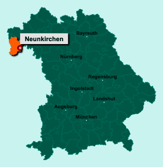 Der Lageplan von 63930 Neunkirchen zeigt die Position im Landkreis Miltenberg - Der Ort liegt im Bundesland Bayern