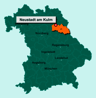 Der Lageplan von 95514 Neustadt am Kulm zeigt die Position im Landkreis Neustadt an der Waldnaab - Der Ort liegt im Bundesland Bayern
