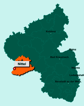 Der Lageplan von 54453 Nittel zeigt die Position im Landkreis Trier-Saarburg - Der Ort liegt im Bundesland Rheinland-Pfalz