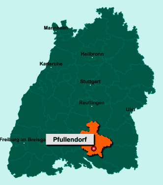 Die Karte von Pfullendorf zeigt die Lage im Landkreis Sigmaringen - Der Ort 88630 Pfullendorf liegt im Bundesland Baden-Württemberg
