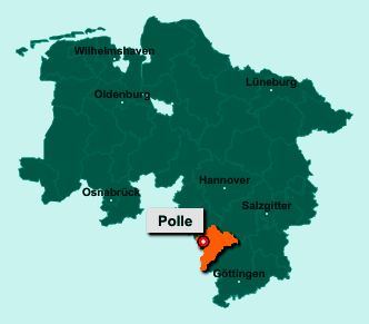 Die Karte von Polle zeigt die Lage im Landkreis Holzminden - Der Ort 37647 Polle liegt im Bundesland Niedersachsen