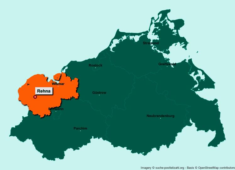 Bildergebnis für rehna mecklenburg vorpommern plz karte