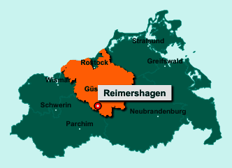 Die Karte von Reimershagen zeigt die Lage im Landkreis Rostock - Der Ort 18276 Reimershagen liegt im Bundesland Mecklenburg-Vorpommern