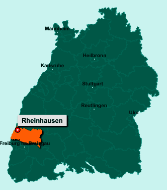 Die Karte von Rheinhausen zeigt die Lage im Landkreis Emmendingen - Der Ort 79365 Rheinhausen liegt im Bundesland Baden-Württemberg