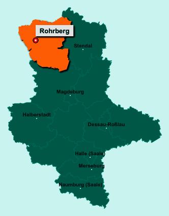 Die Karte von Rohrberg zeigt die Lage im Altmarkkreis Salzwedel - Der Ort 38489 Rohrberg liegt im Bundesland Sachsen-Anhalt