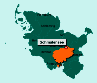 Die Karte von Schmalensee zeigt die Lage im Kreis Segeberg - Der Ort 24638 Schmalensee liegt im Bundesland Schleswig-Holstein