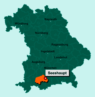 Der Lageplan von 82402 Seeshaupt zeigt die Position im Landkreis Weilheim-Schongau - Der Ort liegt im Bundesland Bayern