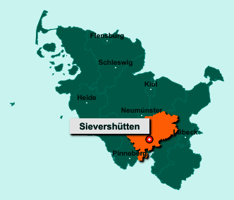 Die Karte von Sievershütten zeigt die Lage im Kreis Segeberg - Der Ort 24641 Sievershütten liegt im Bundesland Schleswig-Holstein