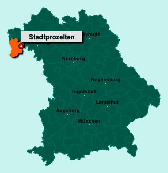 Die Karte von Stadtprozelten zeigt die Lage im Landkreis Miltenberg - Der Ort 97909 Stadtprozelten liegt im Bundesland Bayern