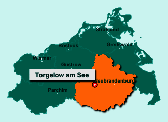 Die Karte von Torgelow am See zeigt die Lage im Landkreis Mecklenburgische Seenplatte - Der Ort 17192 Torgelow am See liegt im Bundesland Mecklenburg-Vorpommern