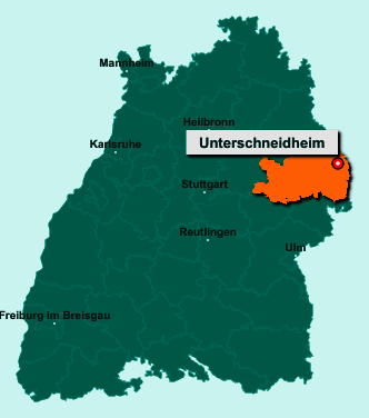 Der Lageplan von 73485 Unterschneidheim zeigt die Position im Ostalbkreis - Der Ort liegt im Bundesland Baden-Württemberg