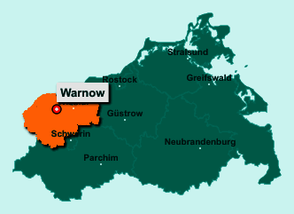 Die Karte von Warnow zeigt die Lage im Landkreis Nordwestmecklenburg - Der Ort Warnow liegt im Bundesland Mecklenburg-Vorpommern