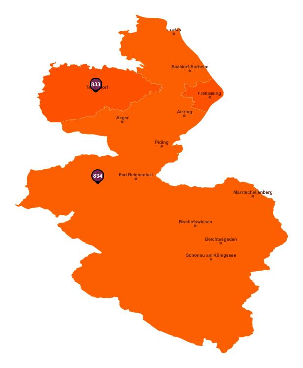 Gebietseinteilung Landkreis Berchtesgadener Land