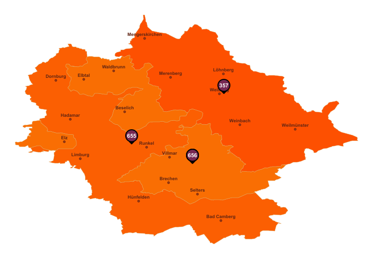 Gebietseinteilung Landkreis Limburg-Weilburg