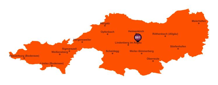 Gebietseinteilung Landkreis Lindau